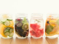Healthy Fruit Flavored Water in Mason Jars