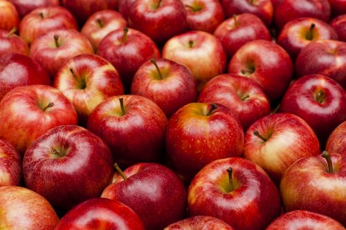 Image of many red apples. Image to encourage a healthier food choice.